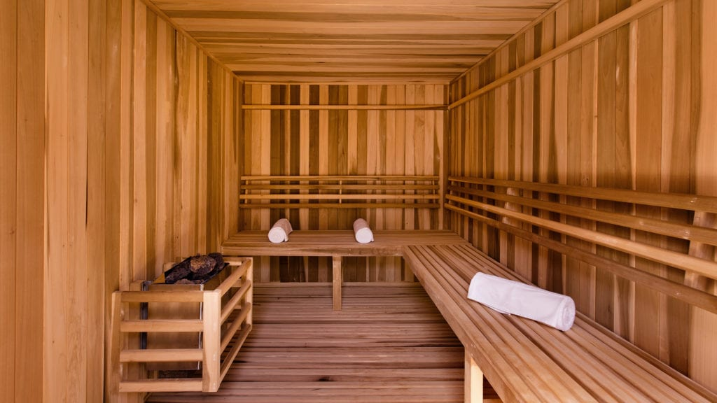 sauna at hacienda chable yucatan