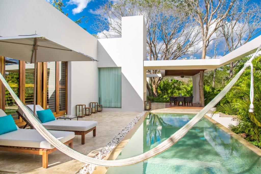 exterior of hacienda chable yucatan