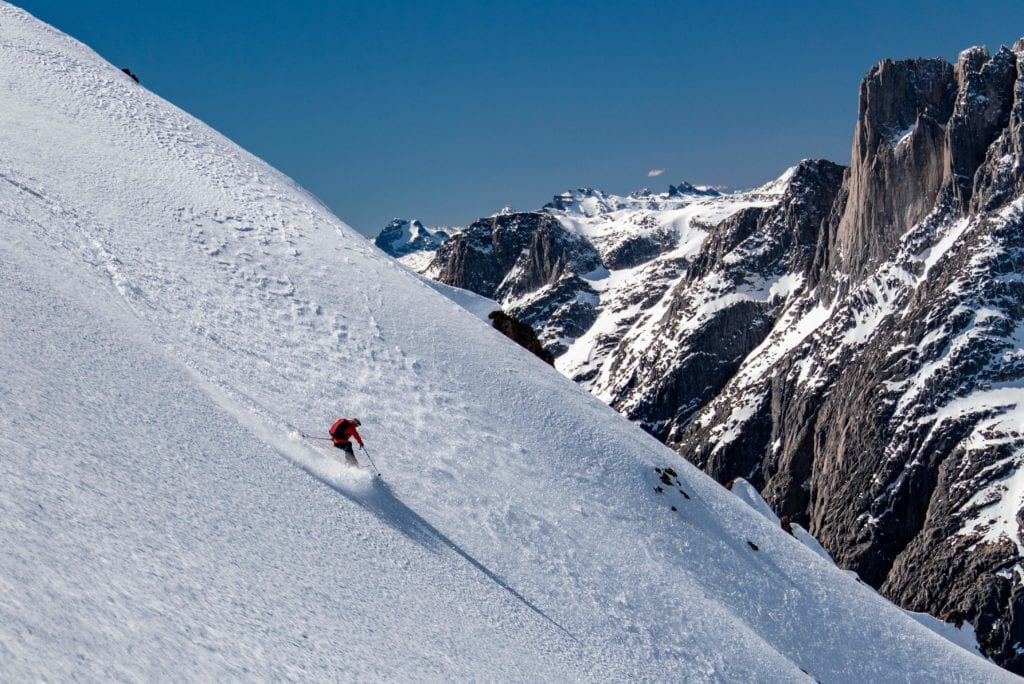 Heli skiing in the Andes, Chile