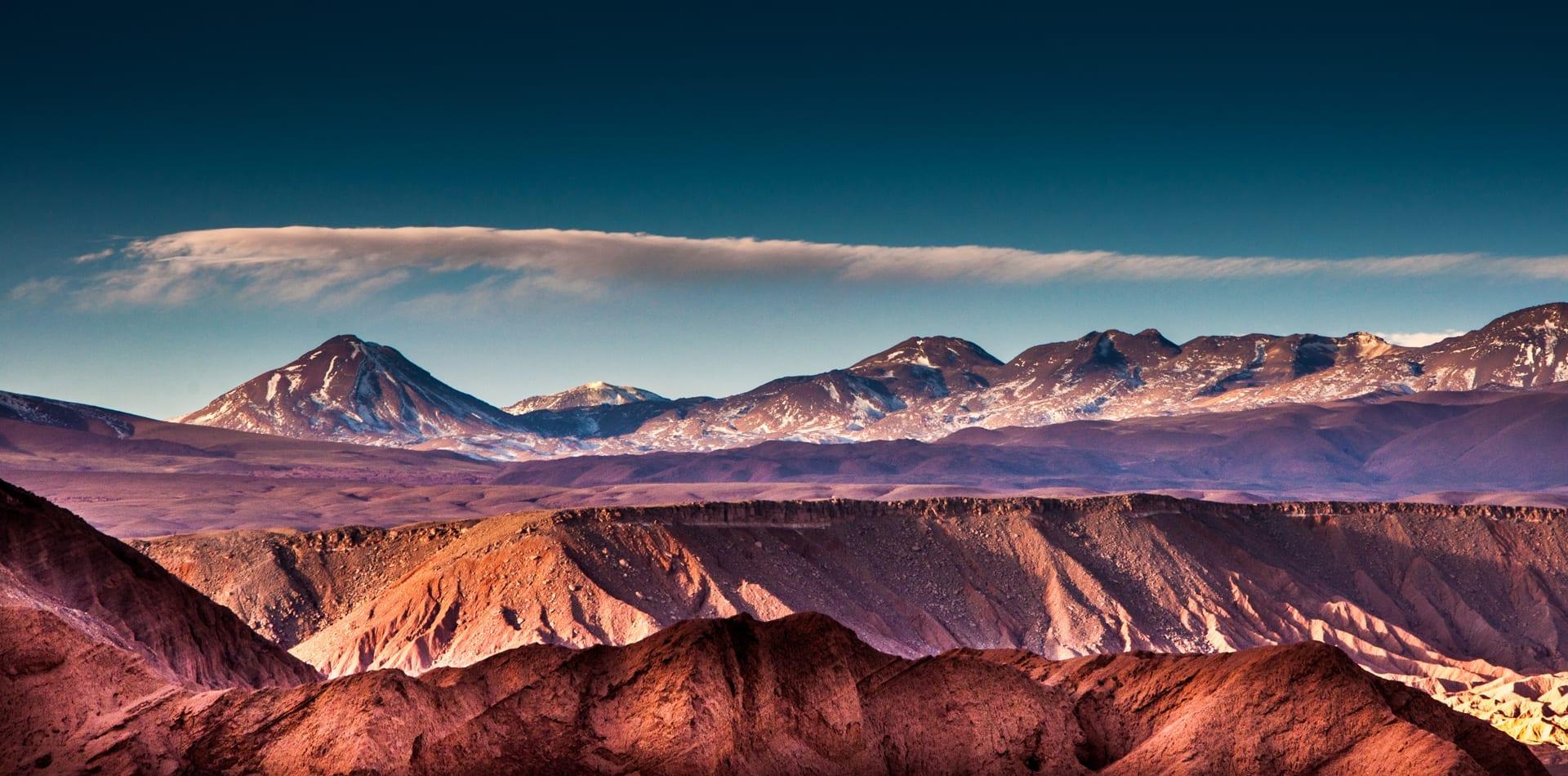 Chile Mountains Desert landscape