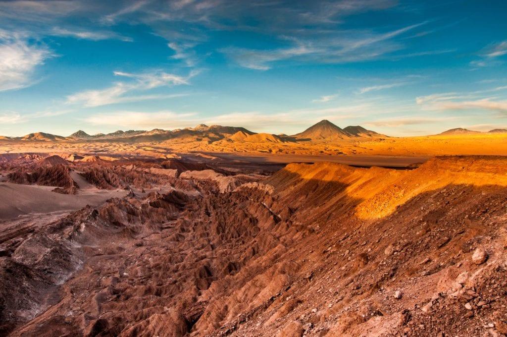 Rocky Landscape of Chile's Atacama Desert