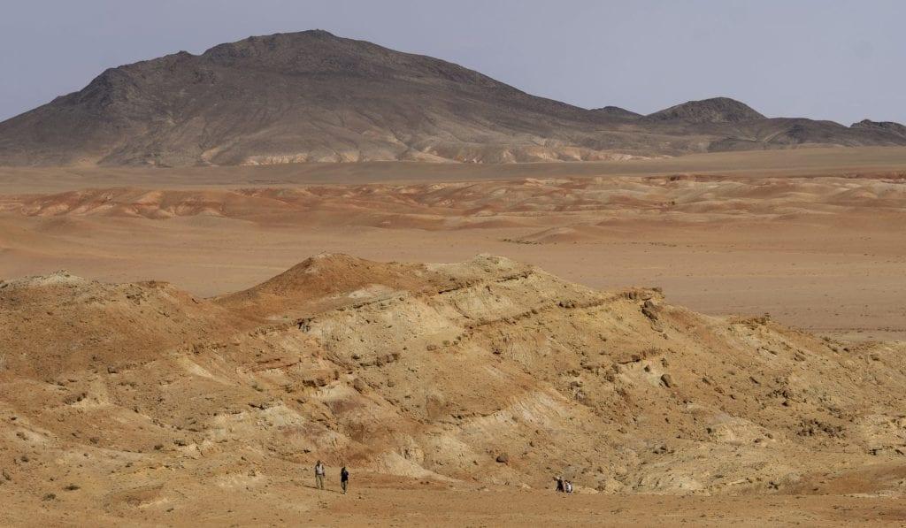Arid desert landscape in China