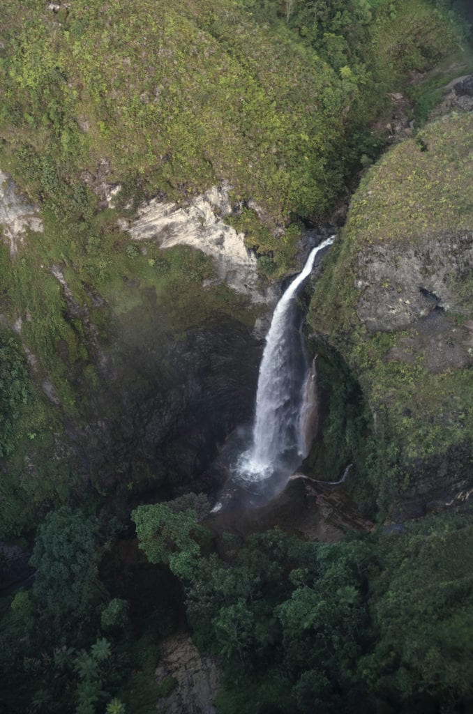 Colombia aerial of waterfall picture