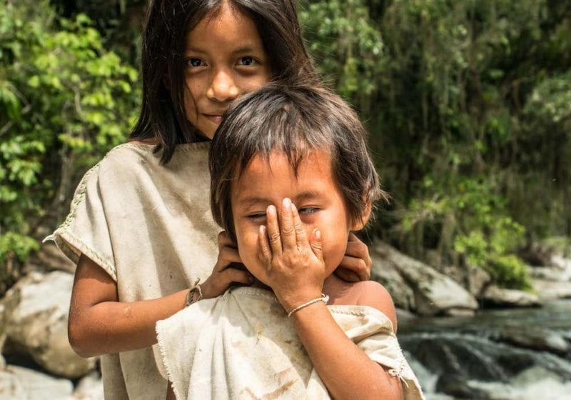 Colombia's Indigenous Tribe Kids in the jungle