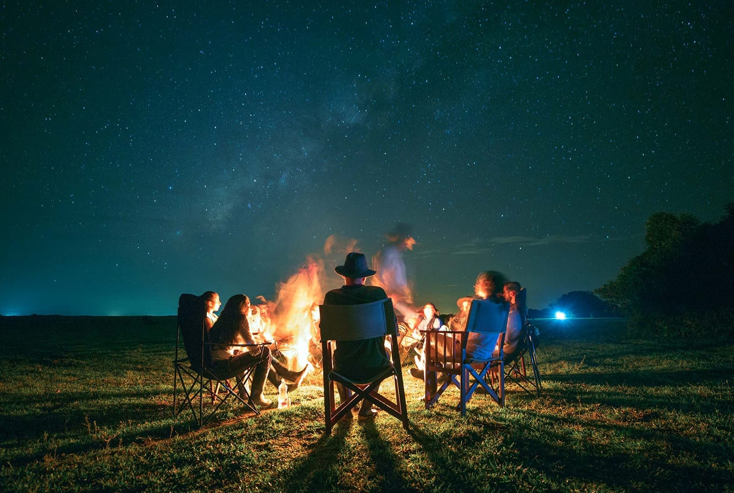 Colombia campfire under the stars