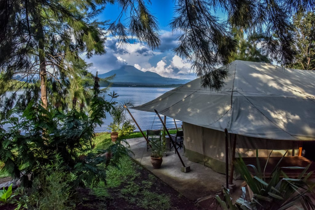 Lake view from a Camp in Congo