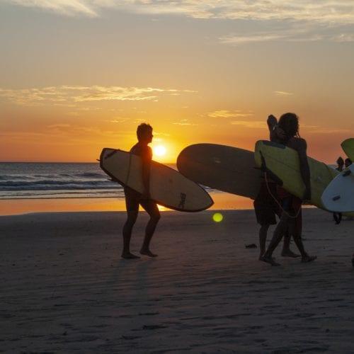 Costa Rica Surfing Sunset