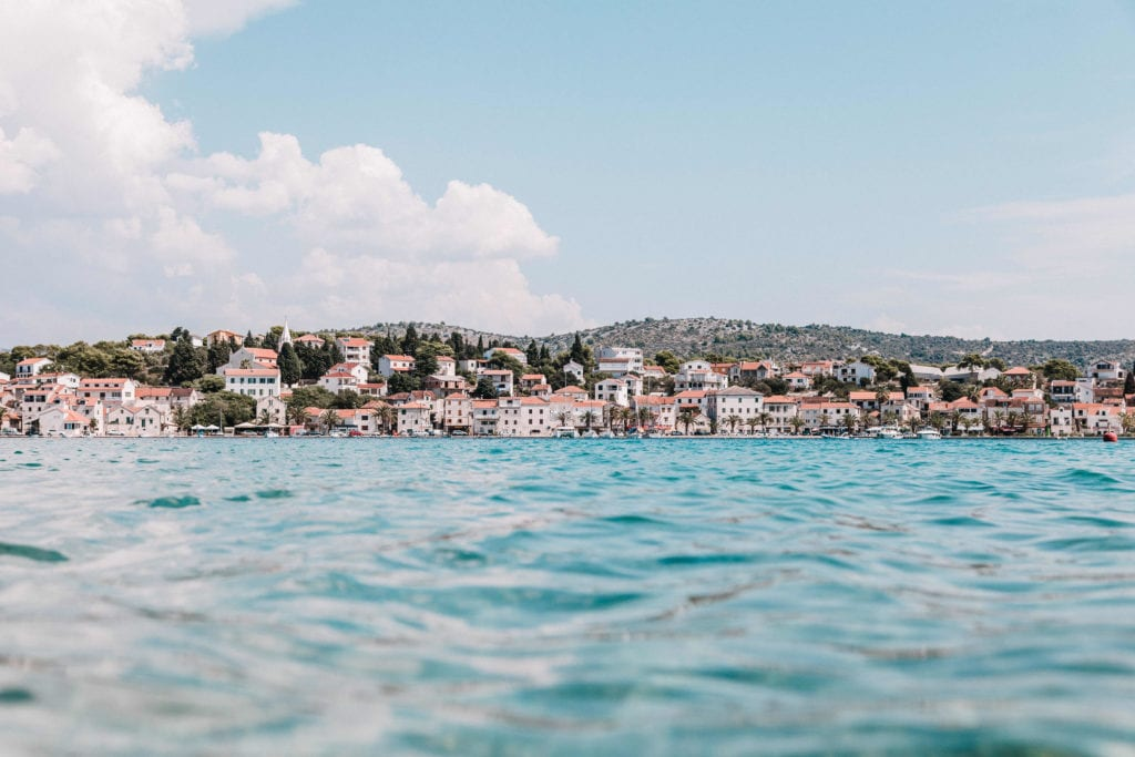 Croatia Town From The Water Pelorus