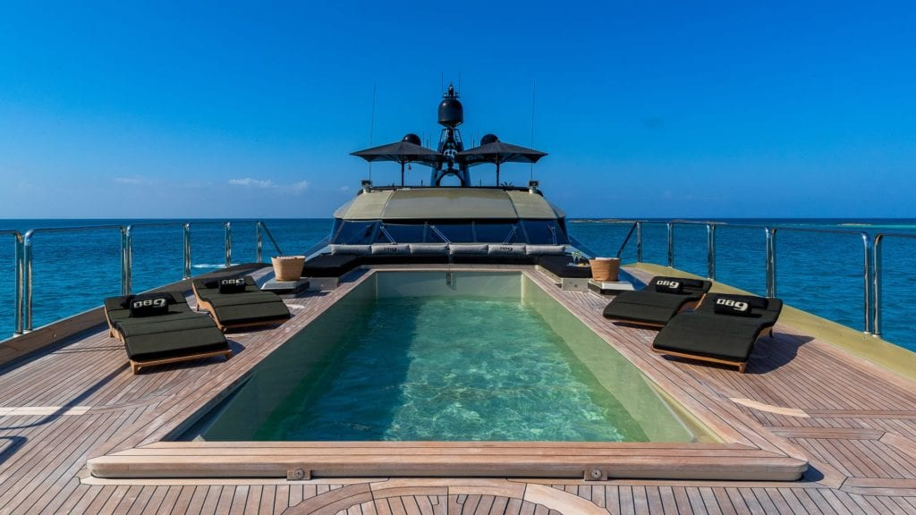 db9 yacht swimming pool