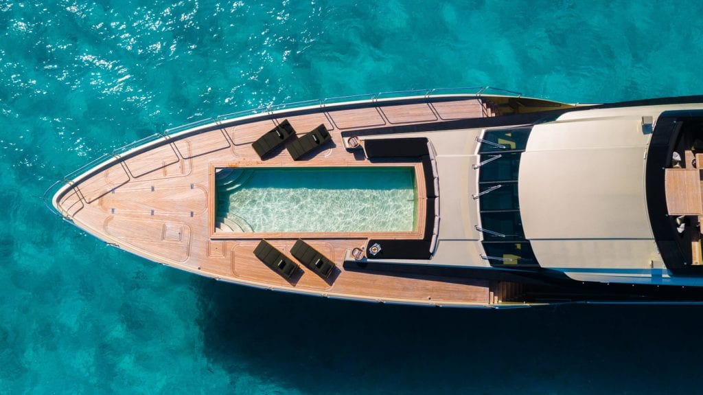 aerial swimming pool db9 yacht