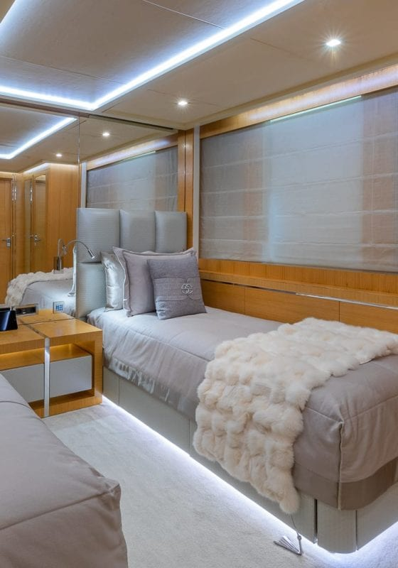 db9 yacht interior twin cabin