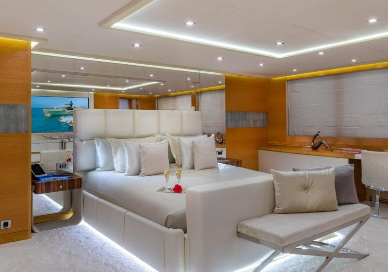db9 yacht interior cabin