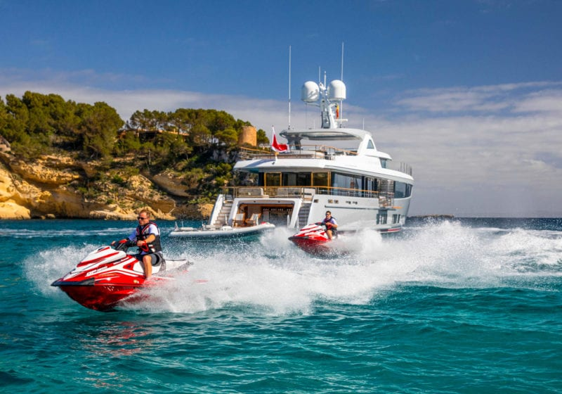 delta one yacht water toys