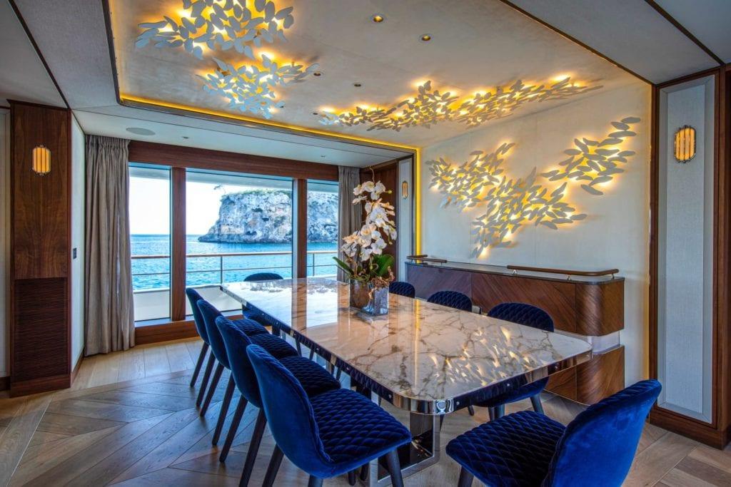 delta one yacht interior