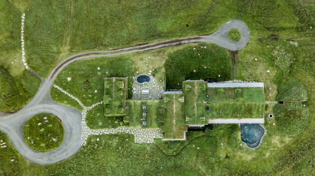 Deplar Farm green aerial shot