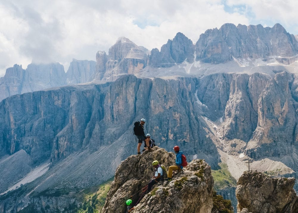 Mountaineering with an incredible view