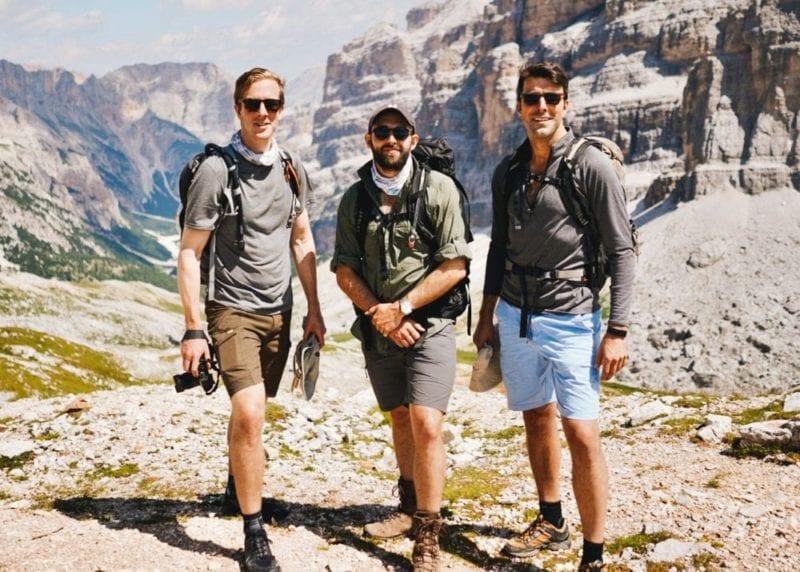 Hikers including co-founder Geordie Mackay-Lewis