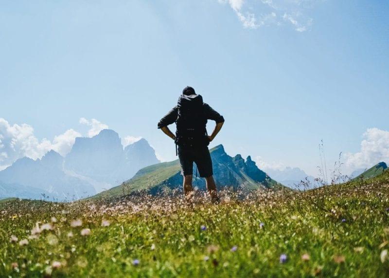 Views over the mountains boasting luscious greenery