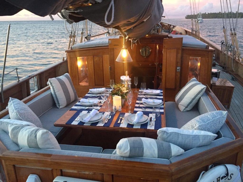 eros yacht exterior