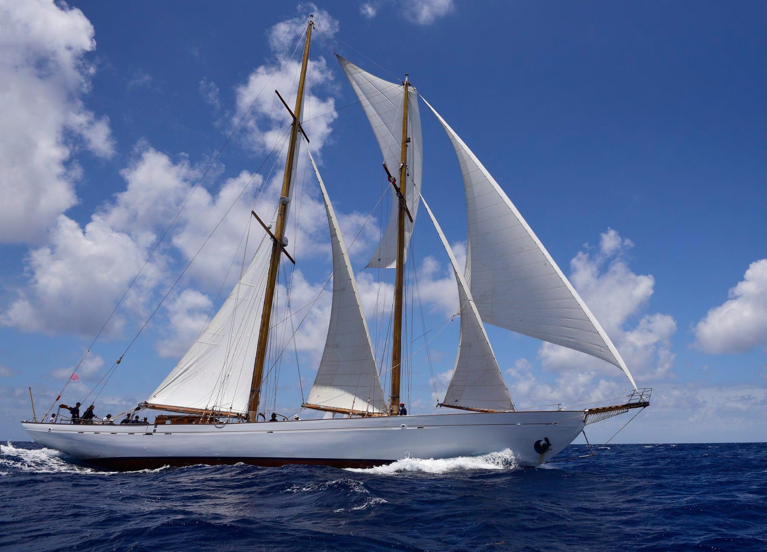 eros yacht exterior sailing