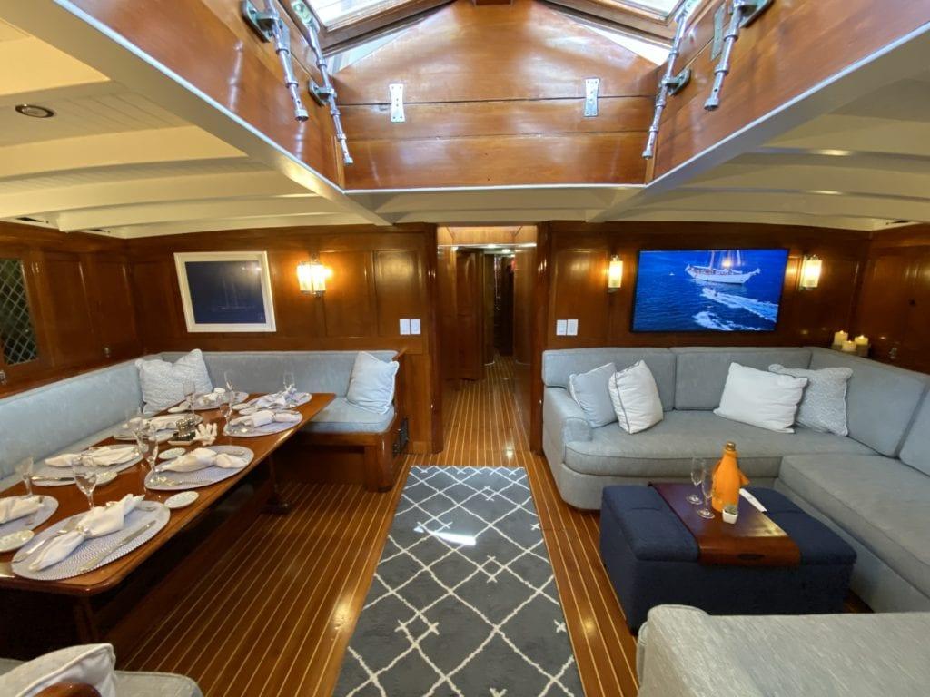 eros yacht interior