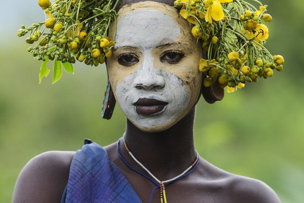 Tribe member from Ethiopia's Omo Valley