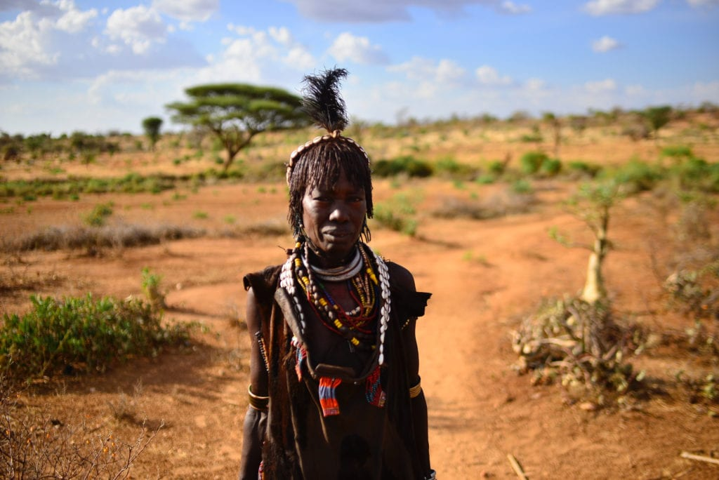Ethiopian woman from the Omo Valley