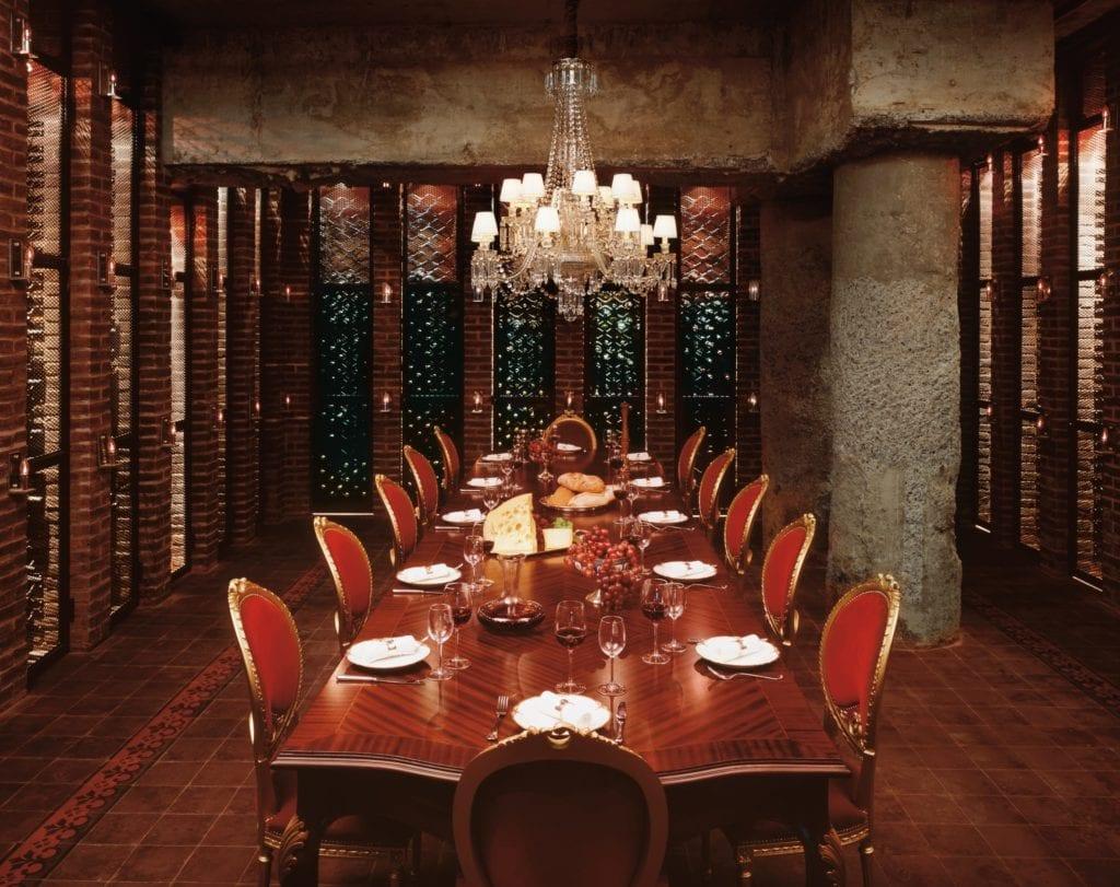 Faena Buenos Aires cellar dining room
