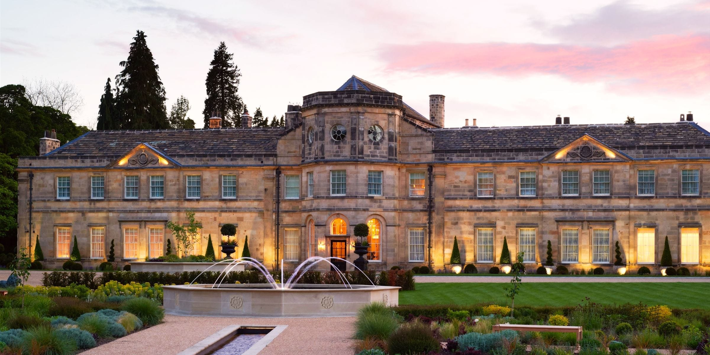 Exterior of Grantley Hall in Yorkshire