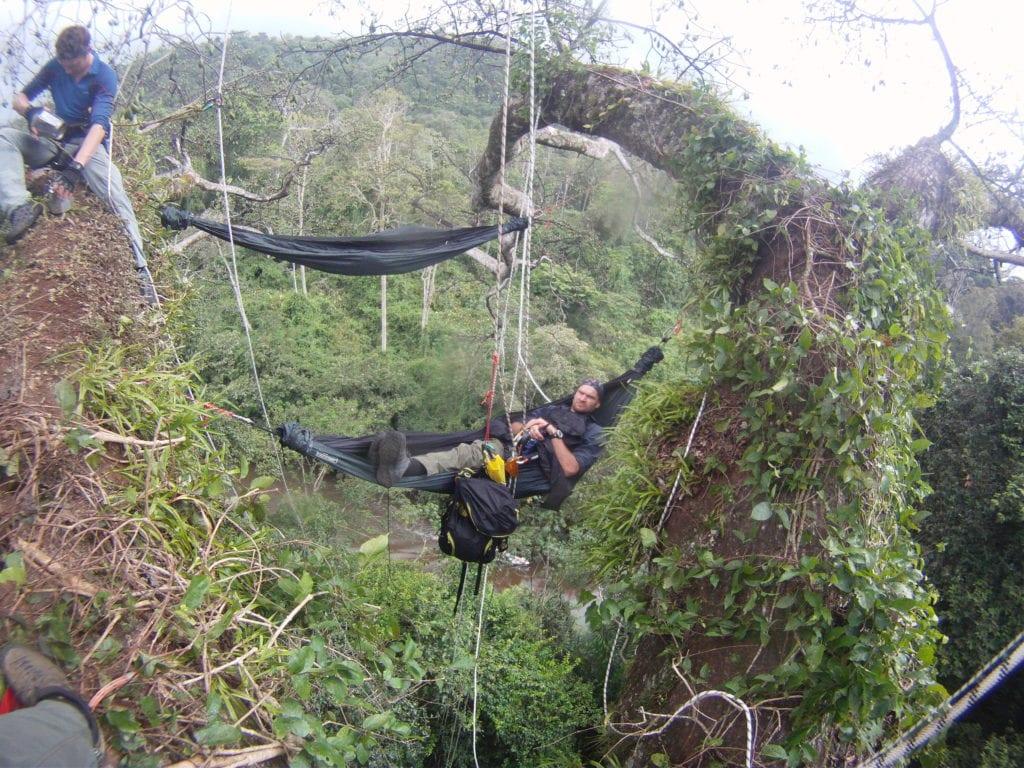 Guyana hammock in a tree