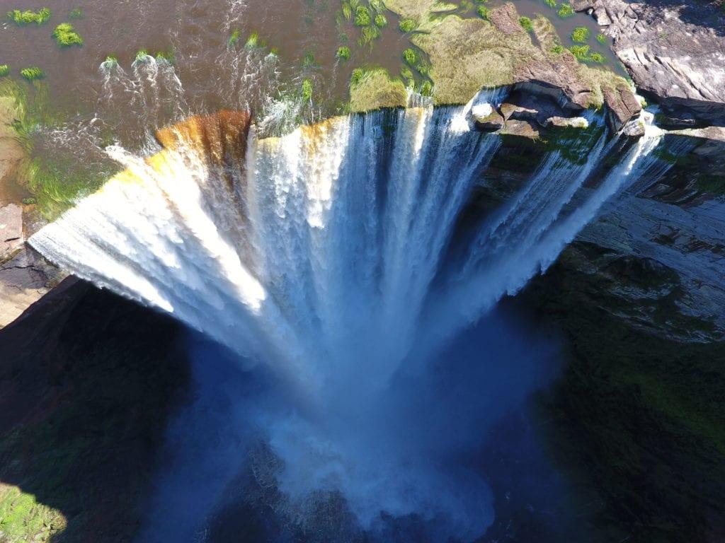 Guyana waterfall aerial shot