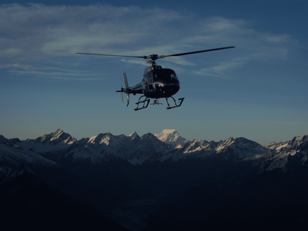 Heli flight New Zealand