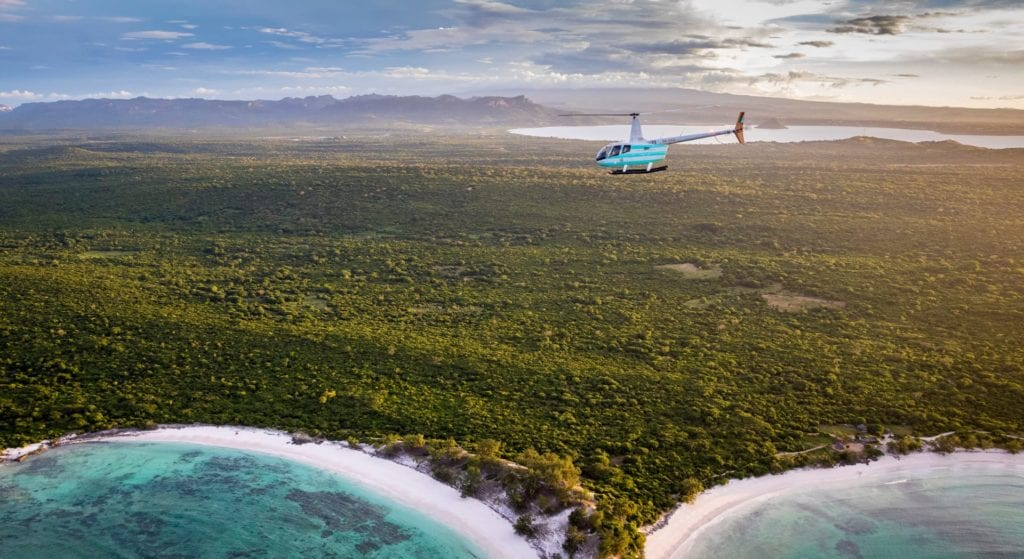 Heli over Madagascar Jungle and Ocean