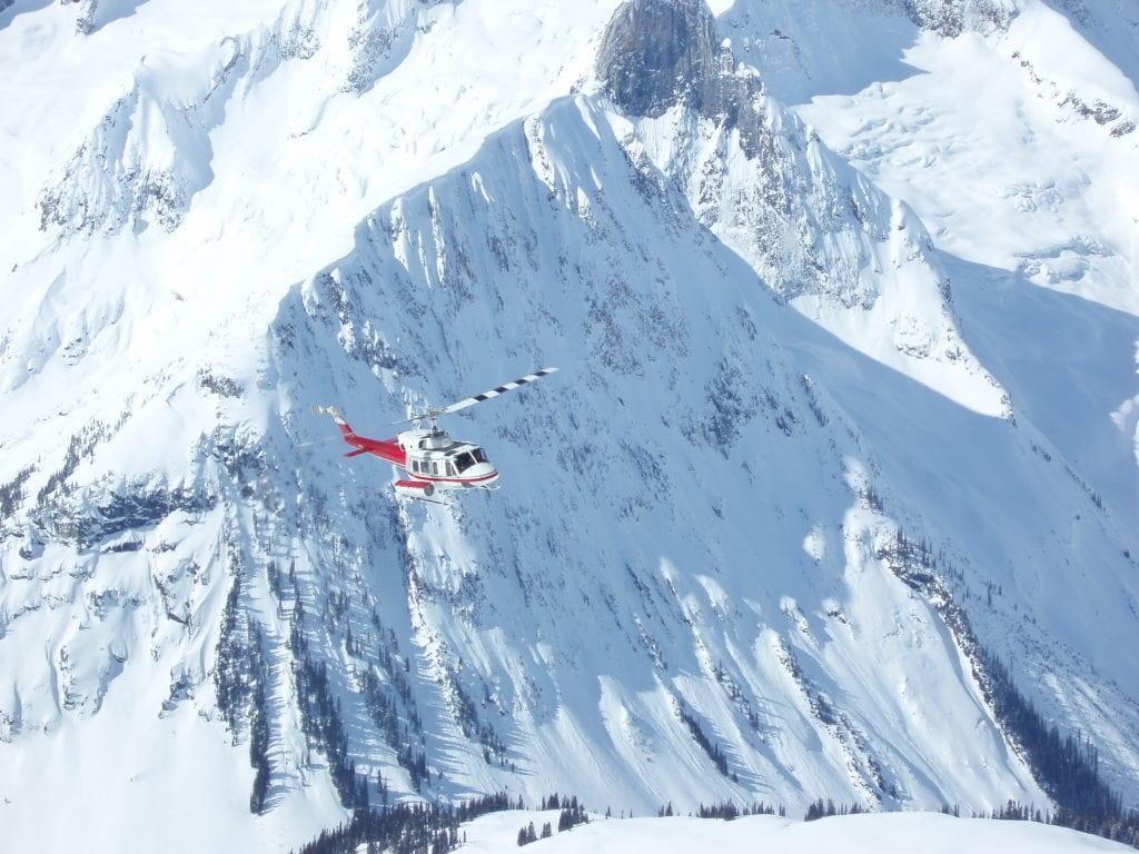 British Colombia Heli Ski Drop Off