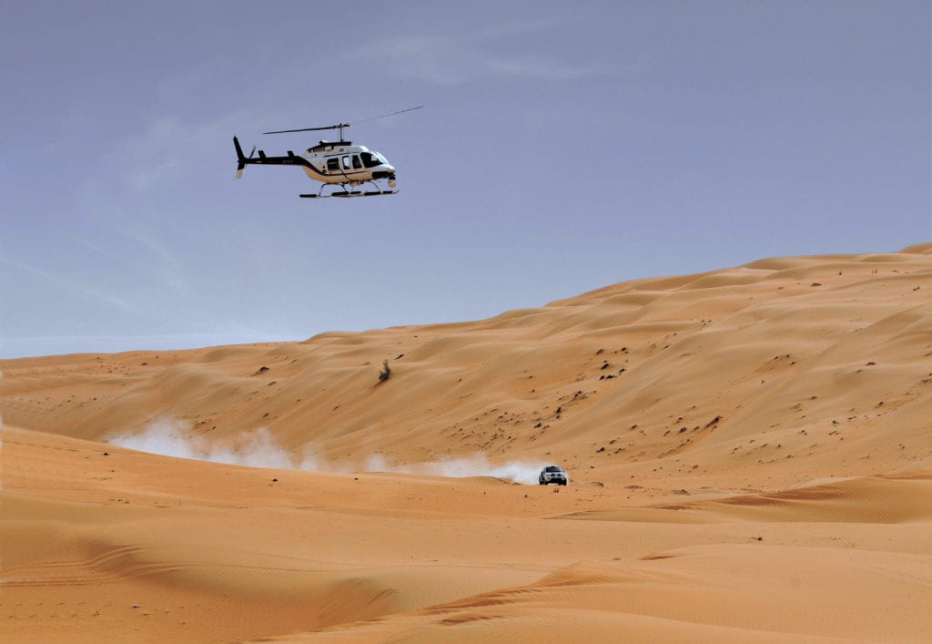 Helicopter Desert Pelorus