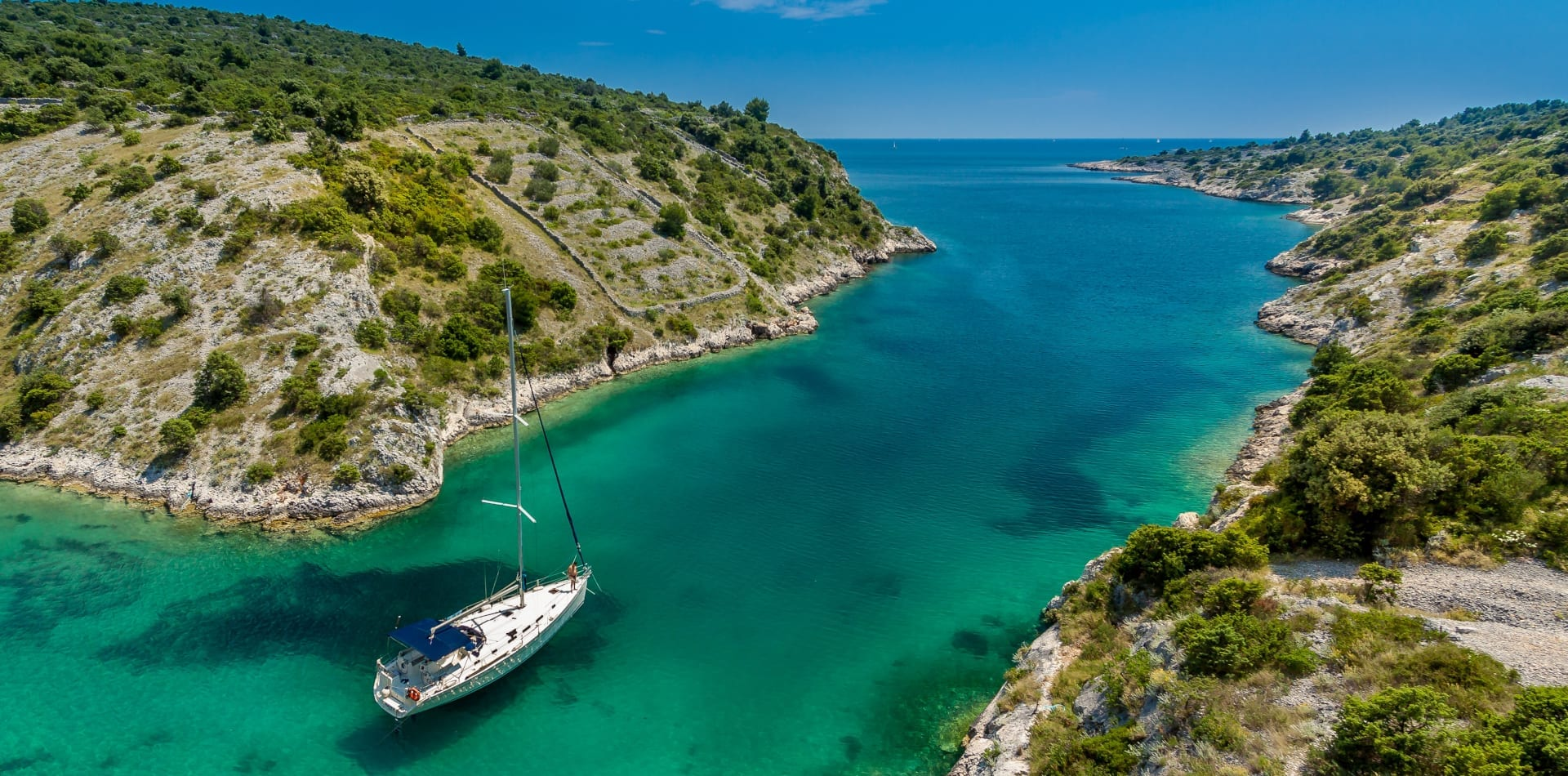 croatia sailing boat bay