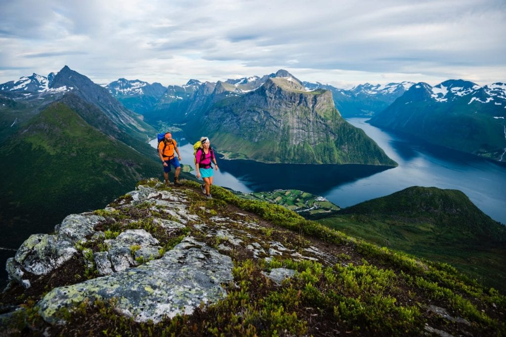Hiking Mountains Fjord Norway