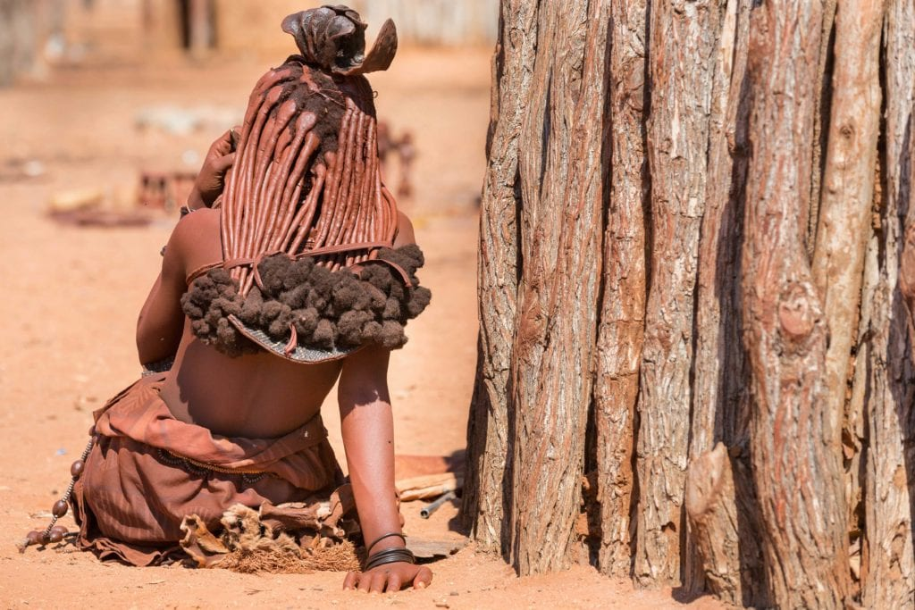 Himba woman in Namib desert