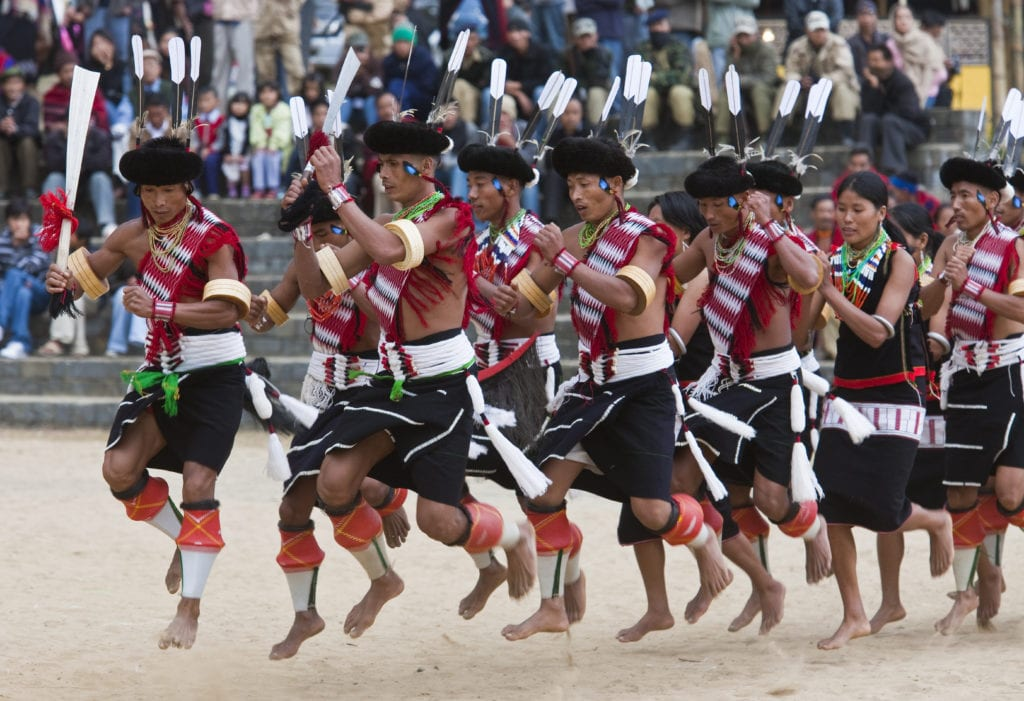 Traditional dance at Hornbill Festival
