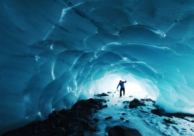Ice Caving Alaska