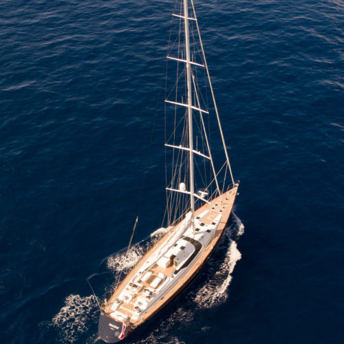 imagine sailing yacht aerial