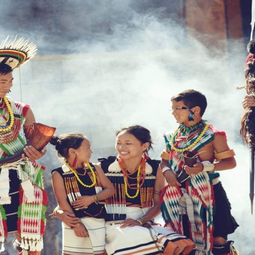 Tribesmen at Hornbill Festival