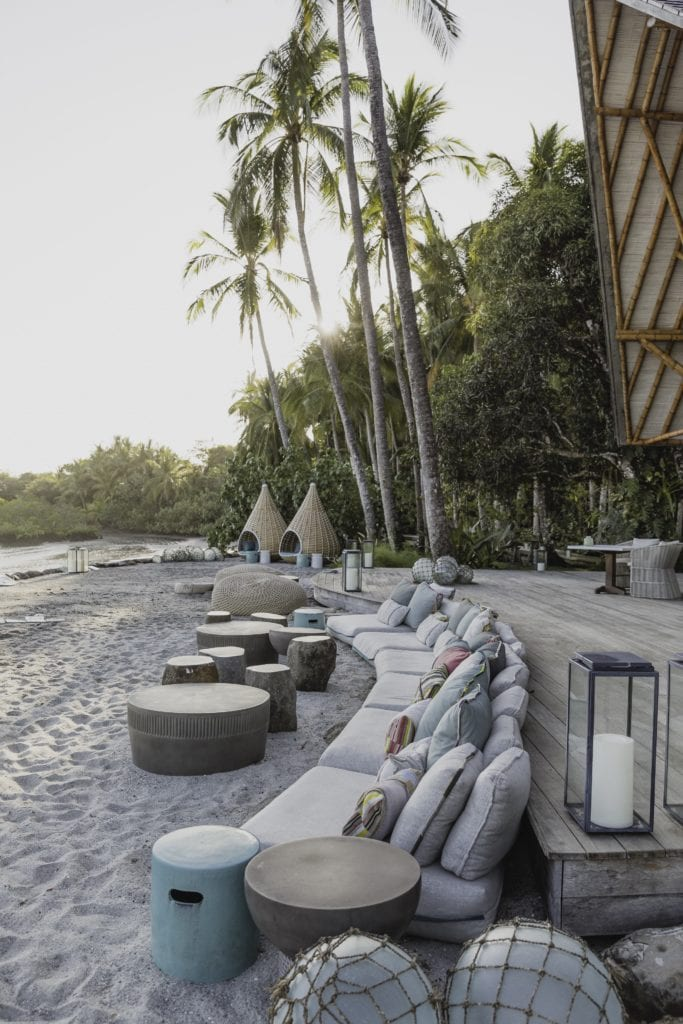 Beach Lounge at Isla Secas Panama