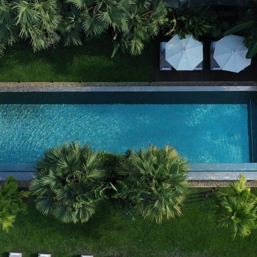 jaya house aerial view of pool