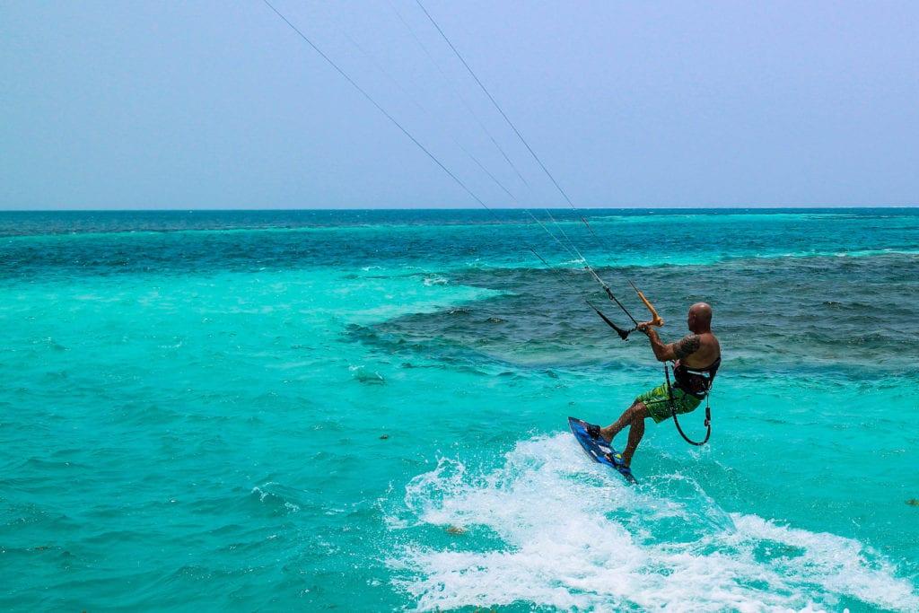 Kite Surfing Turquoise Water Pelorus