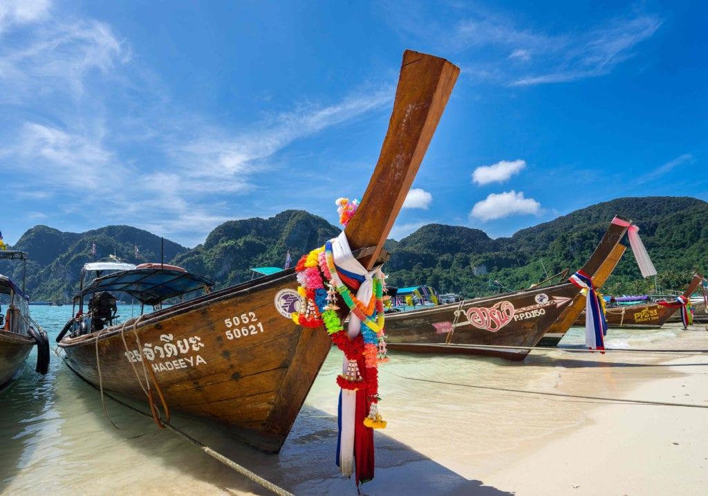 Koh Phi Phi Long Boat Thailand Pelorus