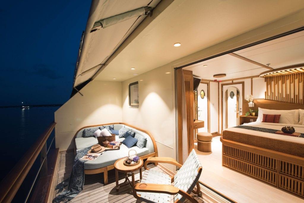 Guest Cabin Balcony on Kudanil Explorer Yacht