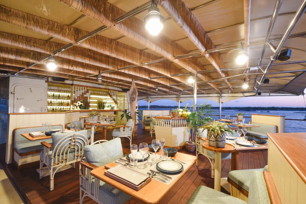 Exterior Dining on Kudanil Explorer Yacht