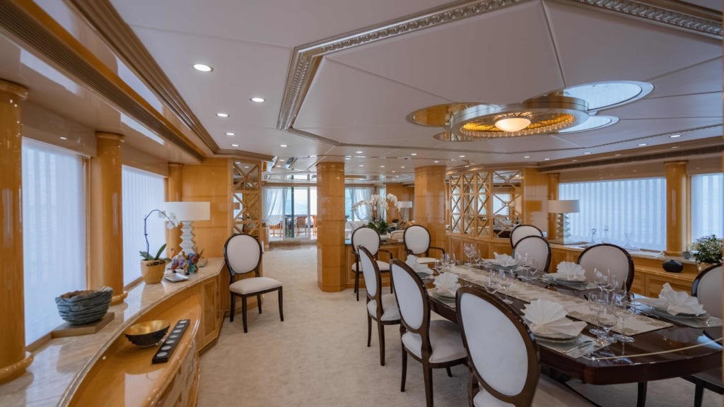 Lady Azul Yacht Interior Dining