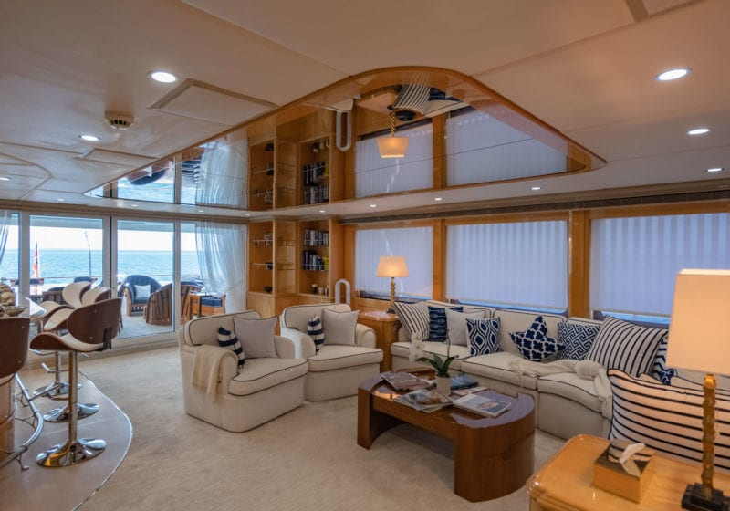 lady azul yacht interior salon